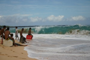 Big Shorebreak at Makena Beach, Maui, HI