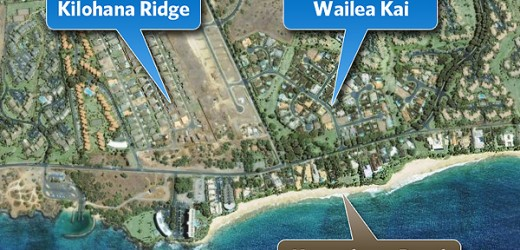 Kilohana ridge and Wailea Kai map