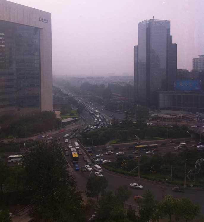 View from our room at the Swissotel in Beijing, China