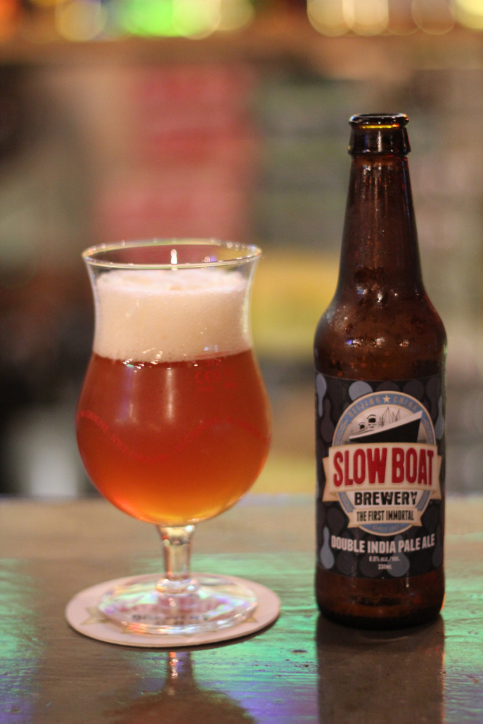 Slow Boat Brewery Beijing, China Double IPA at Homeplate B.B.Q.