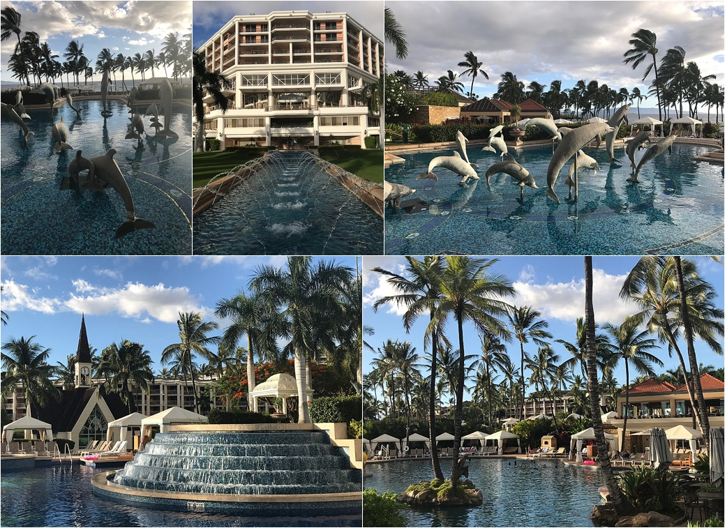 Grand Wailea Resort and Spa, Pool and Grounds, South Maui, Hawaii