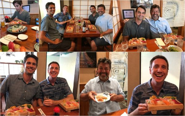 Sayles Ohana at Koiso Sushi Japanese Restaurant, Kihei, South Maui, Hawaii. Top 3 Maui Sushi Restaurants