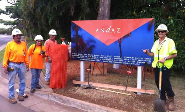 andaz wailea project sign unveiled