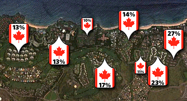 Wailea properties that are popular with Canadian buyers