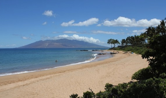 In front of the new Andaz Resort: Mokapu Beach, Wailea, Maui, Hawaii